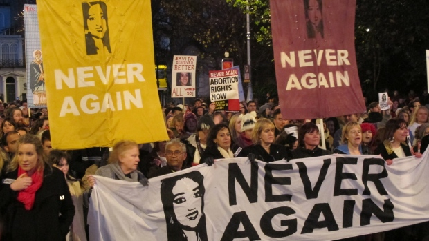 Irish abortion debate follows woman's death