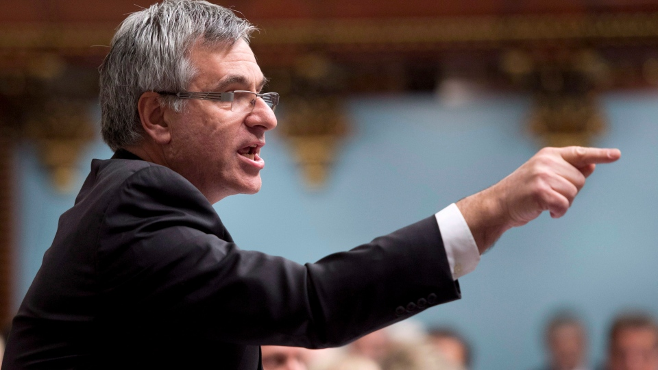 Quebec Opposition Leader Jean-Marc Fournier questions the government at the legislature in Quebec City, Tuesday, Nov. 20, 2012. (Jacques Boissinot / THE CANADIAN PRESS)