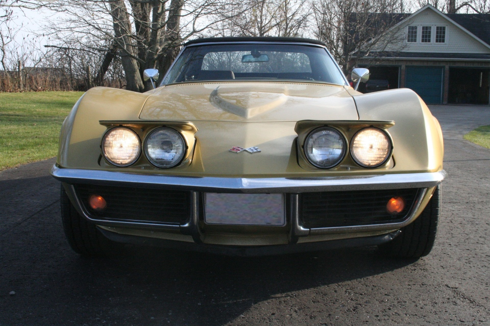 The iconic 1969 Corvette Stingray Convertible sits ready for the drive (Brent Jamieson/CTVNews.ca)