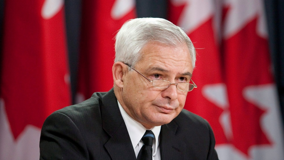 Pierre Daigle, ombudsman for the Department of National Defence and the Canadian Forces, pauses while addressing the media in Ottawa in this 2010 photo. (Pawel Dwulit / THE CANADIAN PRESS)