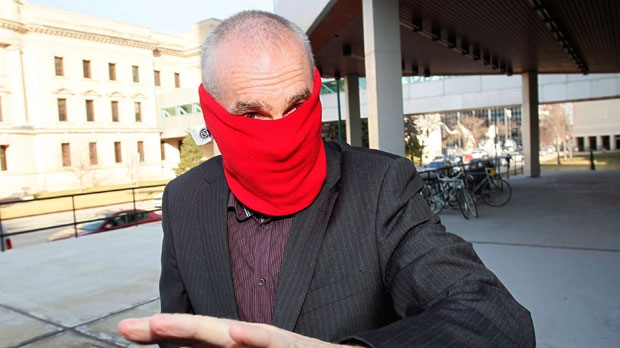 Graham James arrives at court for sentencing in Winnipeg on Tuesday, March 20, 2012. (The Canadian Press/John Woods)