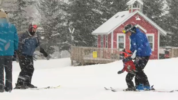 Calgarians are in the midst of another heavy snowfall which is playing havoc with the roads while bringing smiles to the faces of winter enthusiasts.