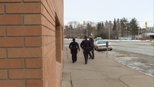 Saskatoon police leaving the provincial court hous