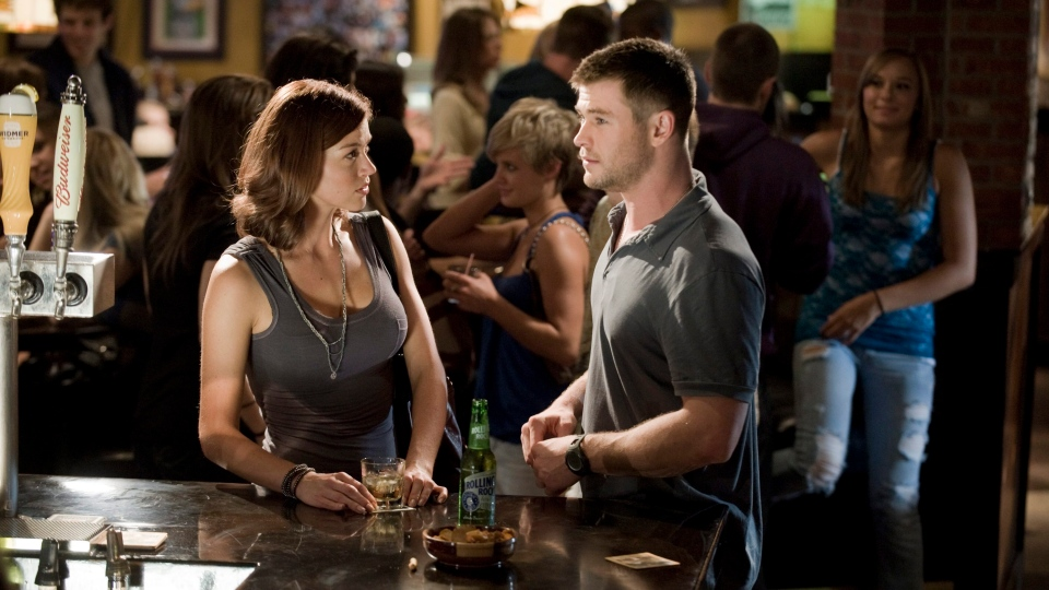 Adrianne Palicki, left, and Chris Hemsworth in a scene from Alliance Films' 'Red Dawn'