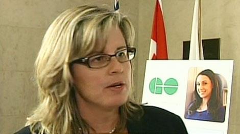 Kitchener-Conestoga MPP Leeanna Pendergast speaks in Kitchener, Friday, Nov. 12, 2010.