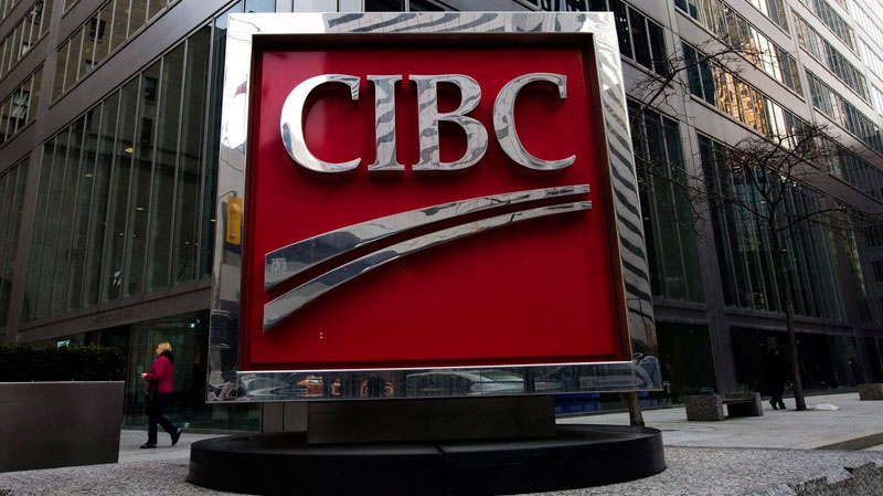 The CIBC sign in Toronto's financial district in downtown Toronto is shown on Feb. 26, 2009. (Nathan Denette / THE CANADIAN PRESS)
