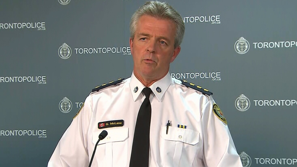 Toronto Police Staff Inspector Greg McLean speaks at a press conference on the Danzig Street shooting in Toronto on Thursday, Nov. 22, 2012.