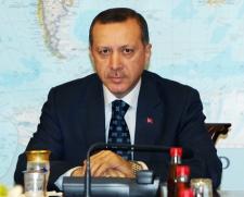 Turkish Prime Minister Recep Tayyip Erdogan is seen during a meeting with U.S. Congressmen in Ankara, Turkey on Friday, Feb. 22, 2008. (AP / Burhan Ozbilici)