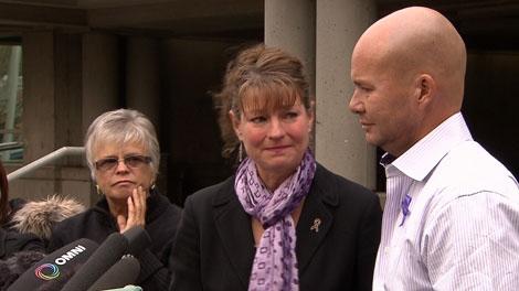 Laurel and Michael Middelaer speak to reporters outside Surrey provincial court. Nov. 12, 2010. (CTV)