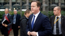 British Prime Minister David Cameron at EU summit
