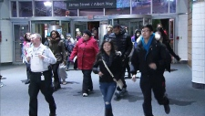 Black Friday bargain hunters Toronto Eaton Centre