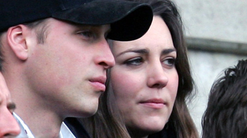 Britain's Prince William, with his girlfriend Kate Middleton  watch the England against Italy Six Nation rugby match at Twickenham stadium in London, Saturday Feb. 10, 2007. (AP / Alastair Grant)