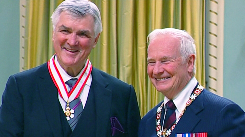 Pat Quinn receives the Order of Canada Friday, Nov. 23, 2012.