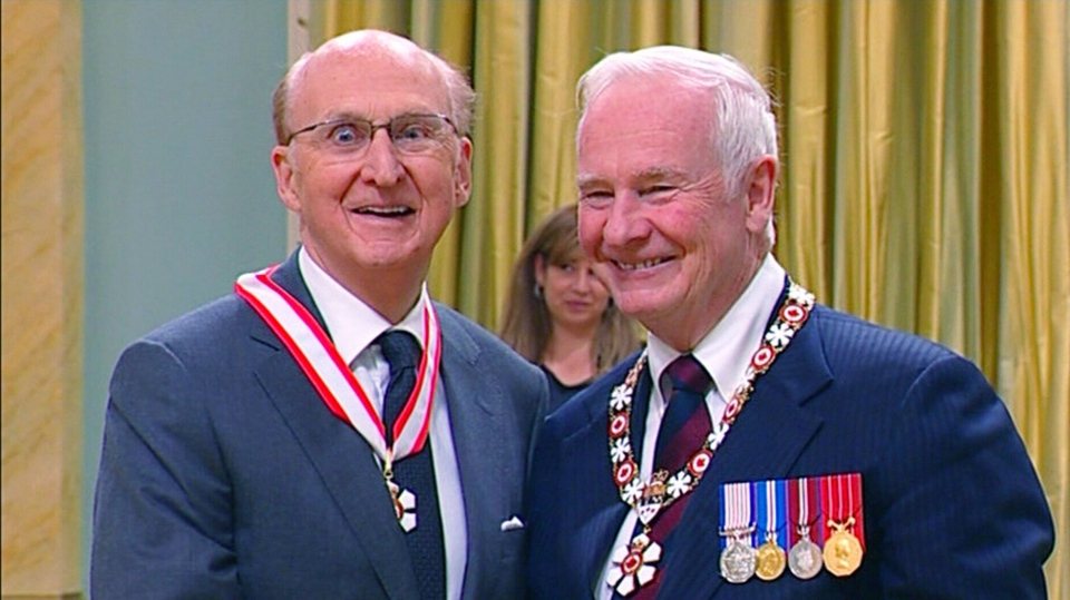 Craig Oliver becomes a member of the Order of Canada Friday, Nov. 23, 2012.