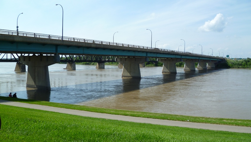 The Diefenbaker Bridge in Prince Albert is seen in this undated file photo.
