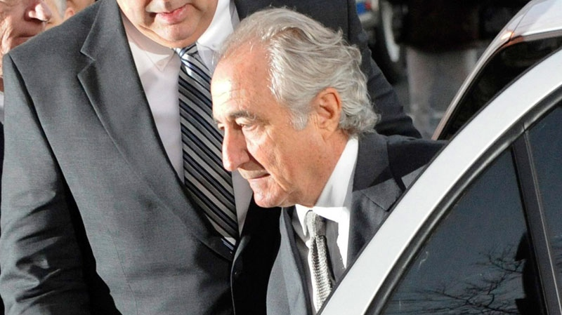 Bernard Madoff arrives at Manhattan federal court in New York, March 12, 2009. (AP / Louis Lanzano)