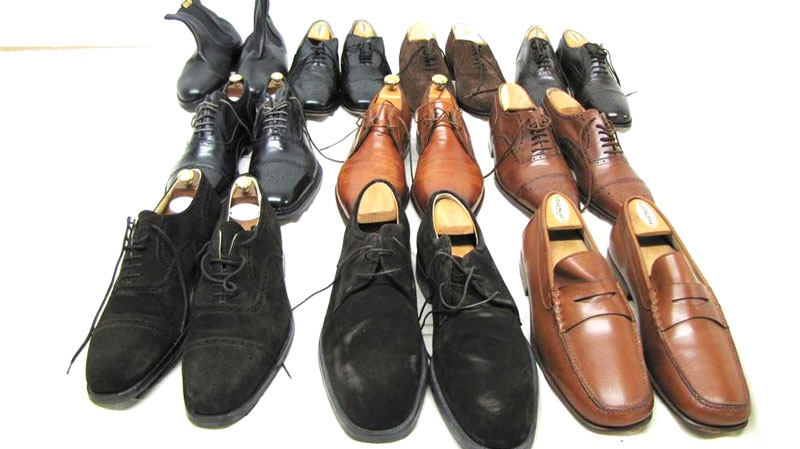 This undated photo made available by Proxibid, Gaston and Sheehan and the U.S. Marshals Service shows ten pair of men's Italian & French designer shoes, part of thousands of belongings from Bernard Madoff's New York City penthouse on the auction block in New York on Saturday, Nov. 13, 2010. (AP / Proxibid, Gaston and Sheehan, U.S. Marshals Service)