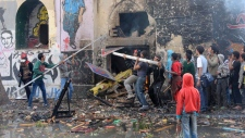 Egyptian protesters clashes near Tahrir Square