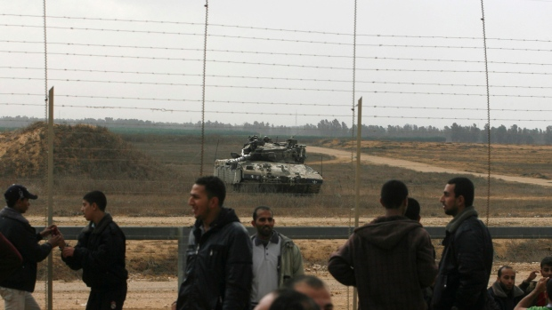 Gaza border with Israel, Nov. 23, 2012.