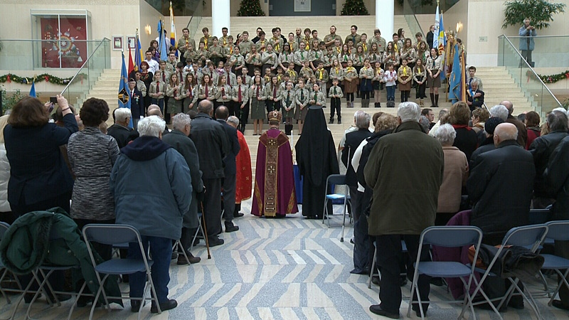 Edmonton's Ukrainian community came together at a ceremony at City Hall on Saturday to mark the 79th anniversary of Holodomor, the deliberate famine/genocide imposed by Joseph Stalin during the 1930s.