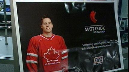 matt cook; cancer; hockey game