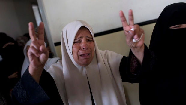 Relative of Hamas member weeps