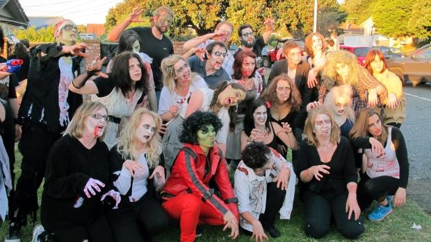 Weta Digital staff celebrate Halloween 2012.