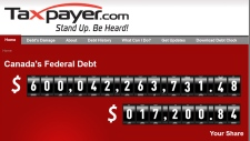 Debt Clock website Nov. 25, 2012