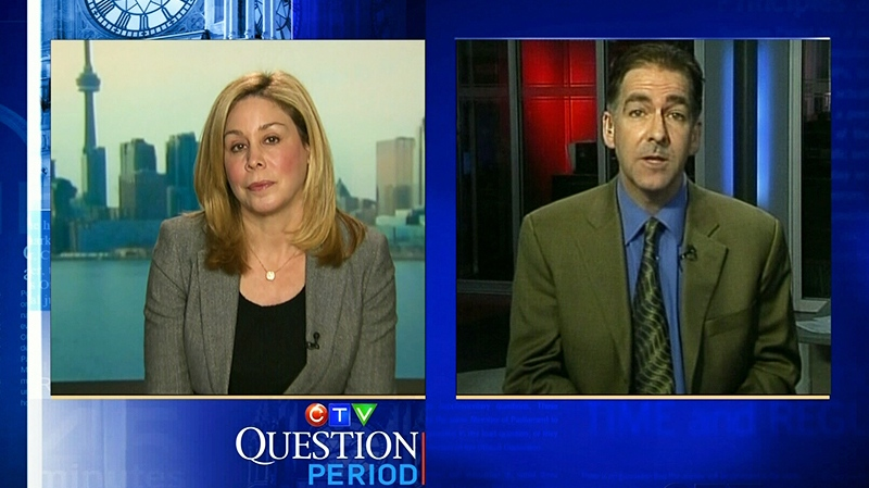 MP Brian Masse and Senator Linda Frum on CTV's Question Period, Sunday Nov. 25, 2012.