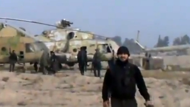 Rebels claim Syrian helicopter base near Damascus