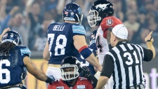 Stamps vs. Argos in Grey Cup game in Toronto