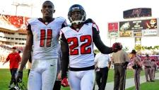 Atlanta Falcons celebrate, Nov. 26, 2012.
