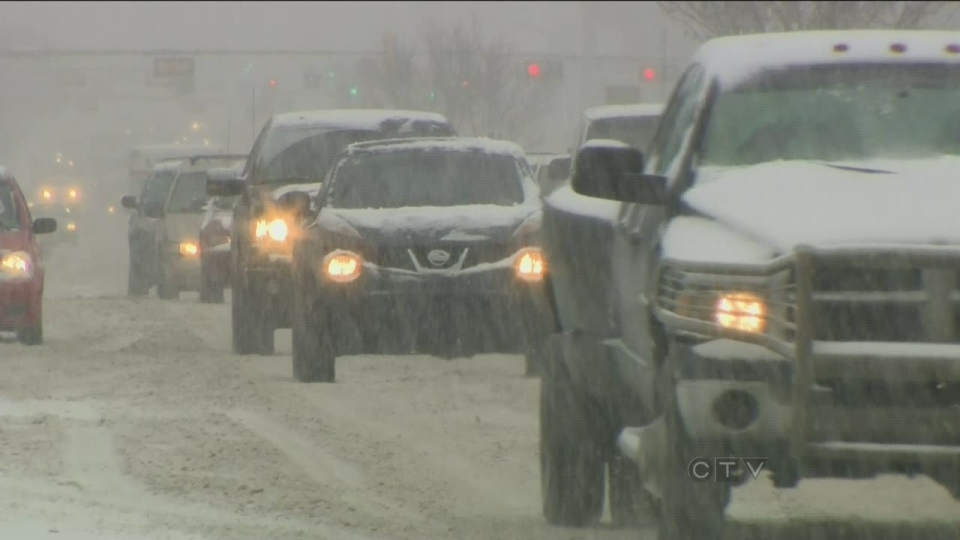 A storm system hitting parts of Ontario and Quebec is headed for the Maritimes.