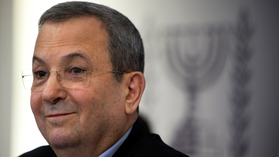 Israeli Defense Minister Ehud Barak speaks to the media in Tel Aviv on Monday, Nov. 26, 2012. Barak shook up the Israeli political system Monday with the abrupt announcement that he is quitting politics and will not run in general elections in January. (AP / Oded Balilty)