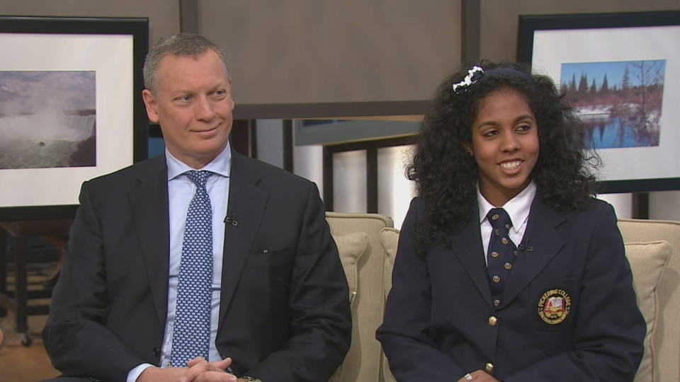 Mark Aboud and Leilah Mouna revealed how Junior Achievment can help kids learn financial literacy on Canada AM, Nov. 26, 2012.