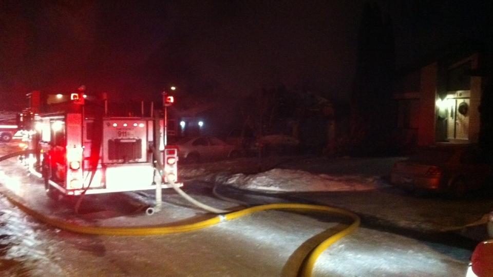Crews struggled to battle a blaze on Knotsberry Bay.