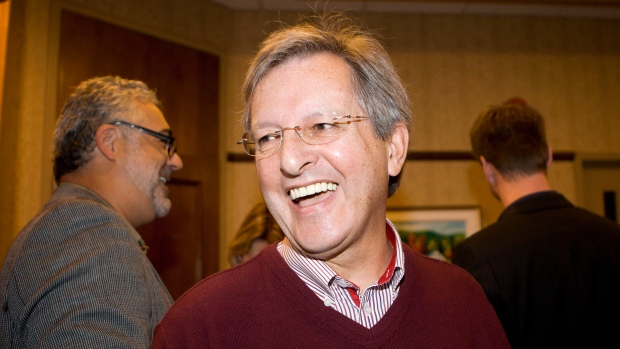 Jean Tremblay, mayor of Saguenay, smiles after spe