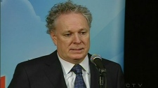 Quebec Premier Jean Charest at the Liberal Party meeting Nov. 14, 2010.