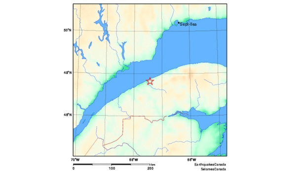 Quake east of Matane, Que Nov 27, 2012.