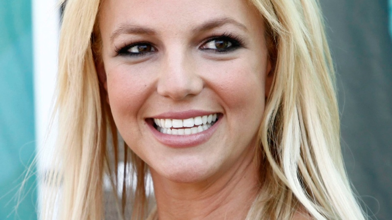 Britney Spears arrives at the Teen Choice Awards in Universal City, Calif., Aug. 9, 2009. (AP / Matt Sayles)