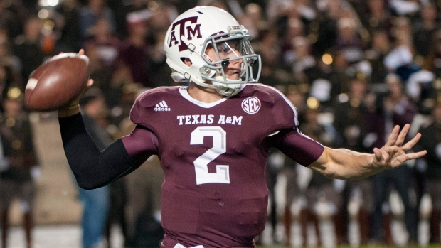 Texas A&M QB Johnny Manziel on Nov. 24, 2012