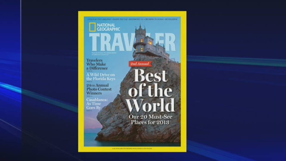 National Geographic's Traveler Magazine.