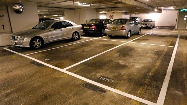 Car parking lot in Hong Kong, Nov. 27, 2012.
