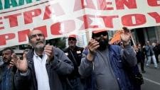 Protesters in Athens, Nov. 27, 2012.