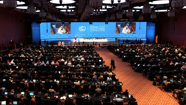 Doha climate change conference on Nov. 26, 2012