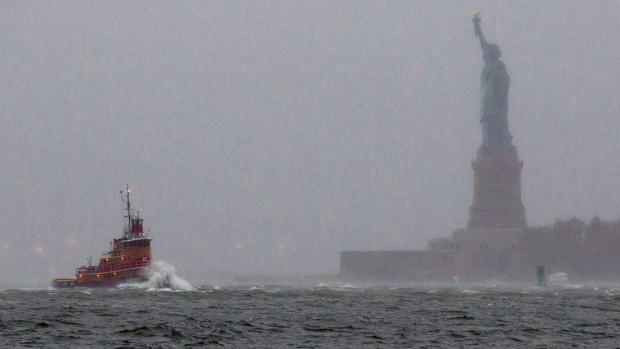 New York Harbor on Oct. 29, 2012.