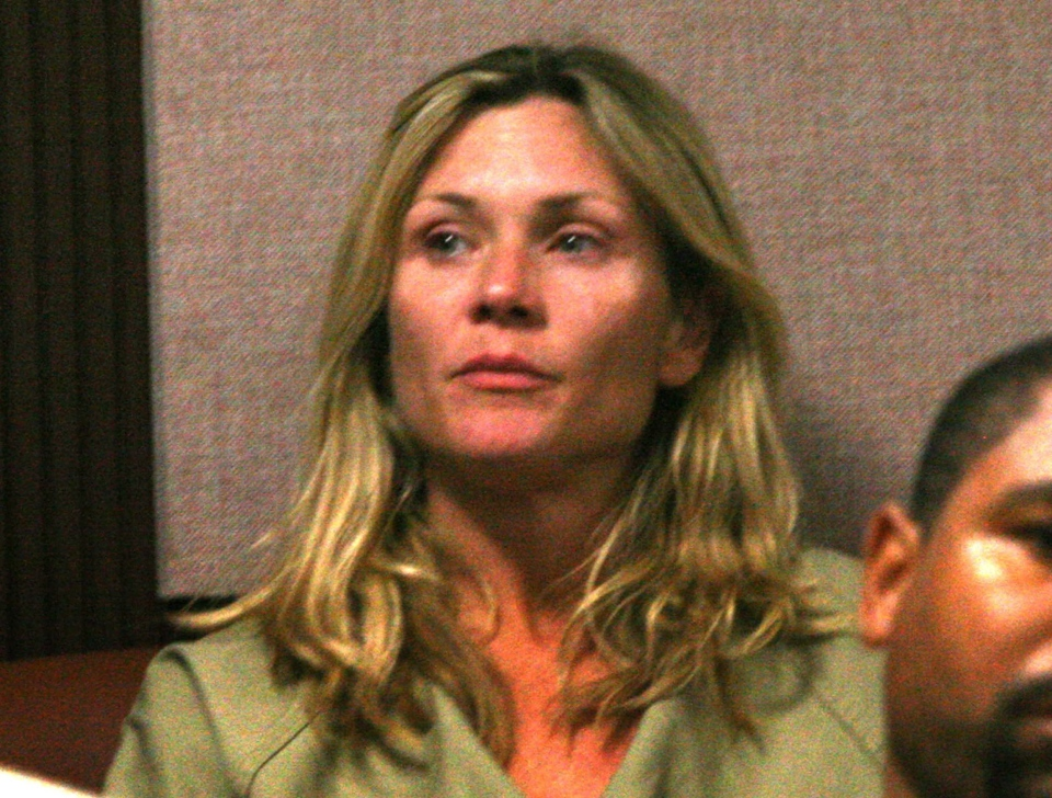 This June 28, 2010 file photo shows actress Amy Locane-Bovenizer during her arraignment on charges of vehicular homicide in state Superior Court in Somerville, N.J.  (AP Photo/The Courier-News, Ed Pagliarini)