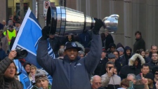 Grey Cup parade in Toronto