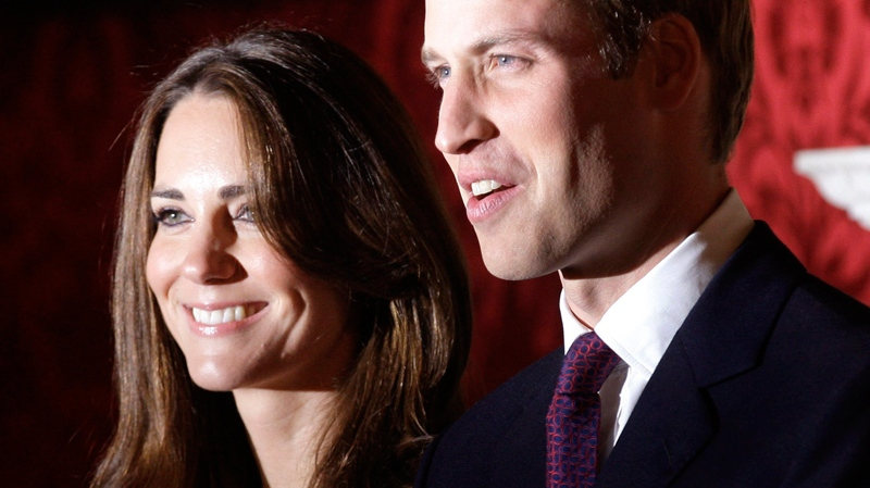 Prince William and his fiance Kate Middleton pose for the media at St. James's Palace in London after announcing their engagement, Tuesday, Nov. 16, 2010. (AP / Sang Tan)