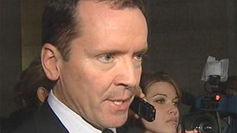 PC leader Hugh McFadyen speaks to reporters on Nov. 16, 2010.